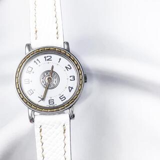 エルメス(Hermes)の【仕上済/ベルト2色】エルメス セリエ ベゼルコンビ レディース 腕時計(腕時計)