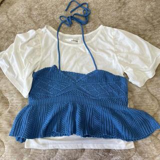 ミスティック(mystic)のmystic Tシャツ×キャミ set♡(Tシャツ(半袖/袖なし))