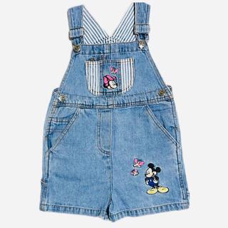 ディズニー(Disney)のアメリカ古着 ミッキー&ミニー ショートオール(その他)