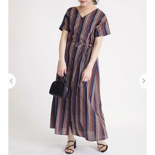 シップスフォーウィメン(SHIPS for women)のSHIPS WOMEN オリジナルプリント羽織ワンピース(ロングワンピース/マキシワンピース)