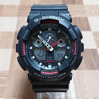 ジーショック(G-SHOCK)の良品【CASIO/G-SHOCK】デジアナ メンズ腕時計GA-100-1A4JF(腕時計(デジタル))