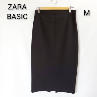 【美品♪】ZARA WOMAN ザラ タイト スカート バックジップ ブラック