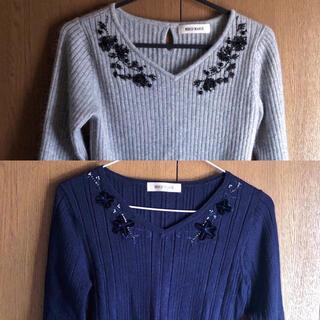 ジャスグリッティー(JUSGLITTY)のMISCH MASCH 刺繍ニット(ニット/セーター)