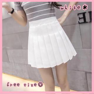 【新品未使用♡】プリーツスカート ミニ 白 量産型 かわいい オルチャン 韓国