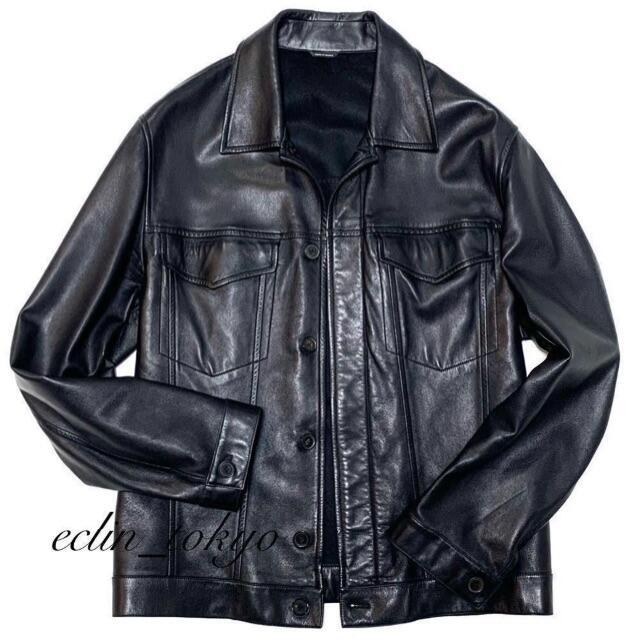 Hermes(エルメス)のHERMES《ラムスキン》Gジャン型 レザー ライダース ジャケット E2941 メンズのジャケット/アウター(レザージャケット)の商品写真