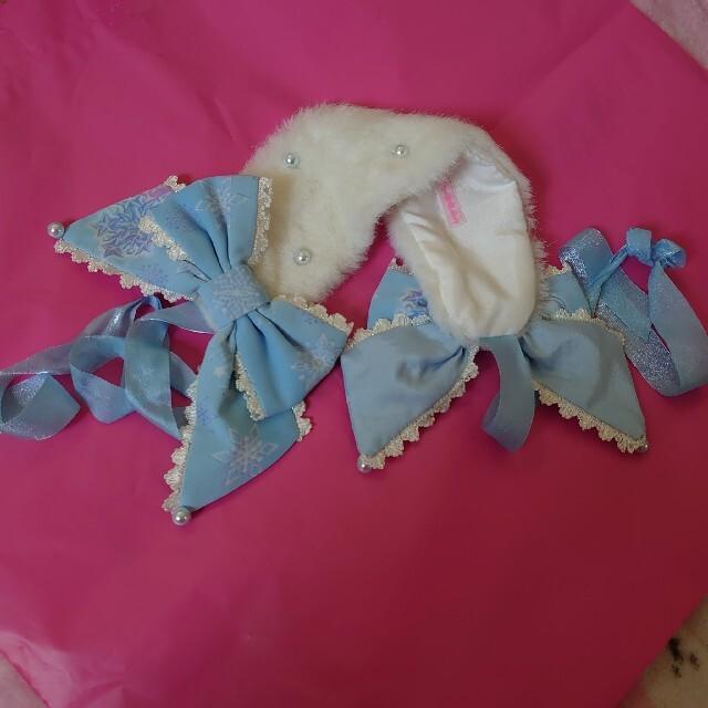 Angelic Pretty(アンジェリックプリティー)のAngelic Pretty☆Lovely Snow Fantasyヘッドドレス レディースのヘアアクセサリー(カチューシャ)の商品写真