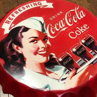 コカ・コーラ - コカコーラ ダイナー ブリキ看板 φ350
