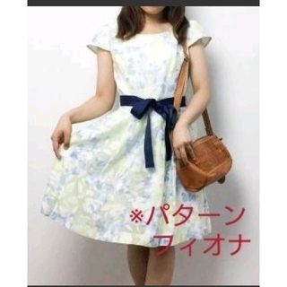 PATTERN fiona - PATTERN・fionaイエロー花柄ワンピース