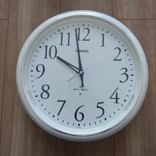 CASIO - 電波時計◆壁掛け◆ホワイト◆アナログ◆丸型◆カシオ◆IQ-1050NJ◆自動点灯