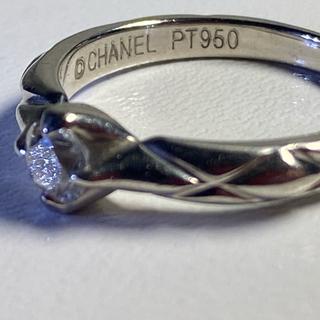 シャネル(CHANEL)の正規良品/CHANEL/マトラッセダイヤモンドリング/Pt950/鑑定書付(リング(指輪))
