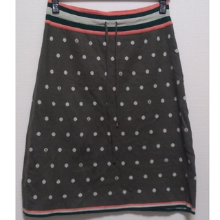 ミナペルホネン(mina perhonen)のアンティパスト スカート ドット柄 美品 日本製(ひざ丈スカート)