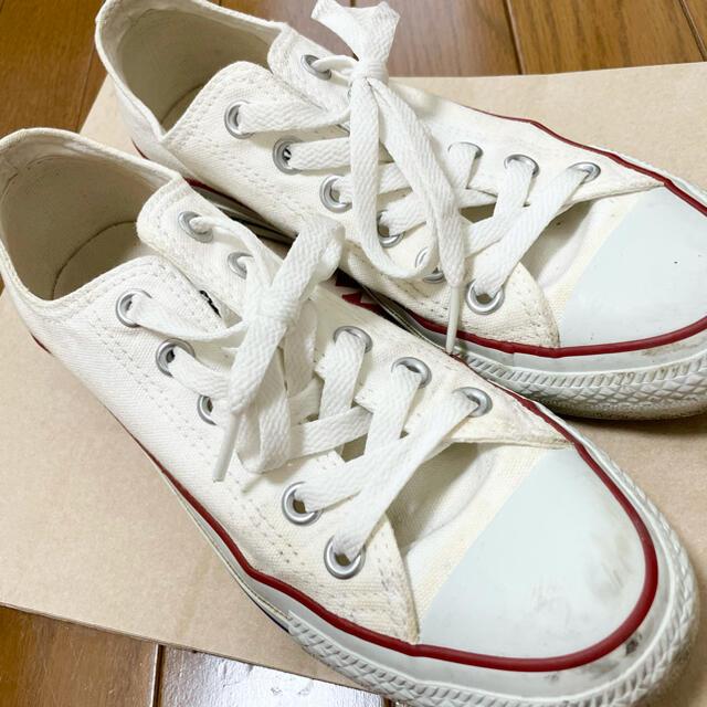 CONVERSE(コンバース)のコンバース ホワイト 白 23.5センチ レディースの靴/シューズ(スニーカー)の商品写真