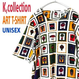 アートヴィンテージ(ART VINTAGE)のK,collection パラシュート ART柄  ビンテージ Tシャツ レトロ(Tシャツ/カットソー(半袖/袖なし))