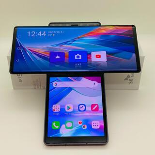 エルジーエレクトロニクス(LG Electronics)の[960] LG Wing 128GB グレイ SIMフリー 2枚重ね画面端末(スマートフォン本体)