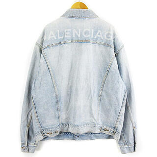 バレンシアガ(Balenciaga)のバレンシアガ 18SS バックロゴ デニム ジャケット オーバーサイズ 48(ブルゾン)
