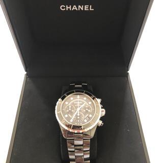 シャネル(CHANEL)の【送料無料】CHANEL シャネル J12 クロノグラフ時計 ダイヤ付(腕時計(アナログ))