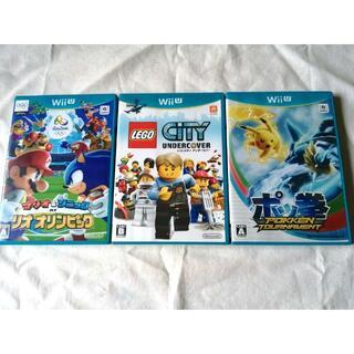 ウィーユー(Wii U)の動作確認済み【 wiiU ゲームソフト 3本 】程度良好(家庭用ゲームソフト)
