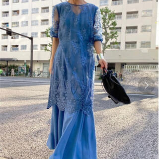 Ameri VINTAGE - AMERI 3WAY LAYERED LACE DRESS