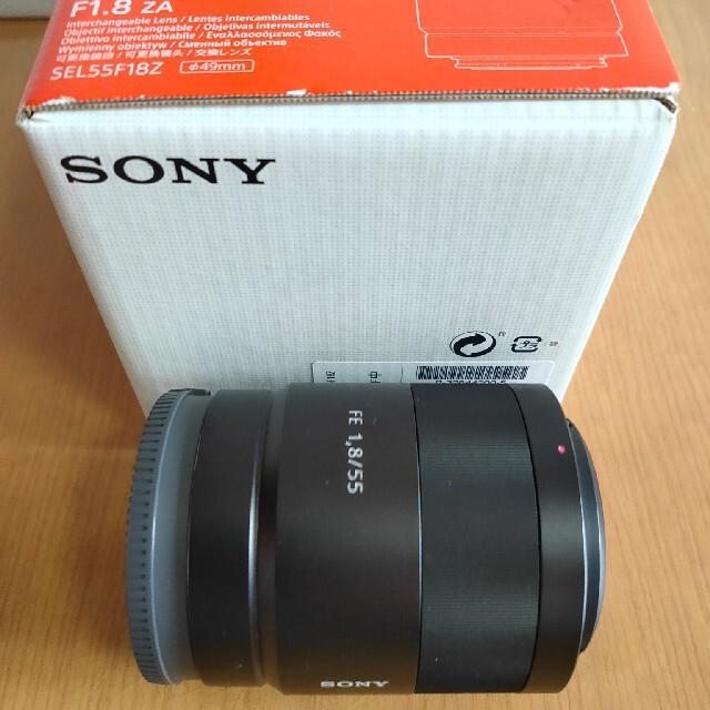 SONY(ソニー)のSONY Sonnar T* FE 55mm F1.8 美品 スマホ/家電/カメラのカメラ(レンズ(単焦点))の商品写真