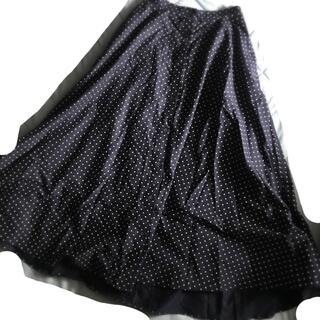 ユニクロ(UNIQLO)の送料込*UNIQLO  美品*フロントボタン水玉スカート(ロングスカート)