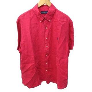 ラルフローレン(Ralph Lauren)のラルフローレン リネンシャツ 半袖 ワンポイント刺繍 XL(シャツ)