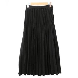 M-Premier ジョーゼットプリーツスカート ミモレ丈 36 黒 ブラック