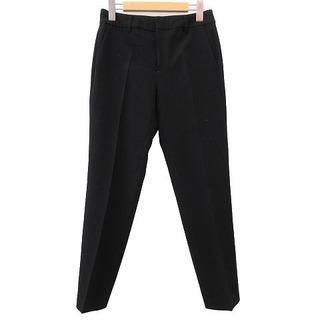 エムプルミエ(M-premier)のM-Premier パンツ テーパード センタープレス 36 黒 ブラック(その他)