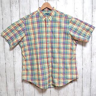 ラルフローレン(Ralph Lauren)の美品 ラルフローレン メンズ 半袖シャツ XL チェック ビックサイズ(シャツ)