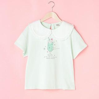 メゾピアノジュニア(mezzo piano junior)のメゾピアノ新品新作タグ付きビッグカラー半袖Tシャツ150(Tシャツ/カットソー)