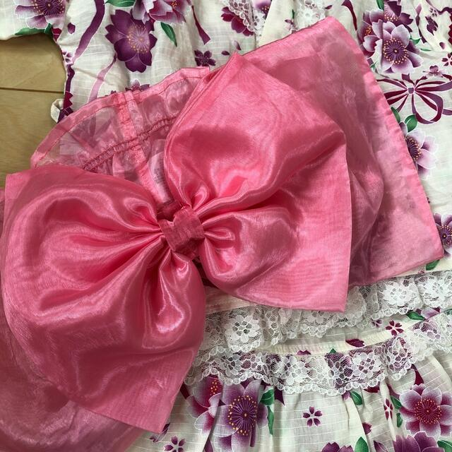 西松屋(ニシマツヤ)の子供浴衣 スカート 甚平 110 キッズ/ベビー/マタニティのキッズ服女の子用(90cm~)(甚平/浴衣)の商品写真