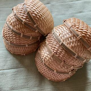 竹カゴ、バスケット丸型 10個セット