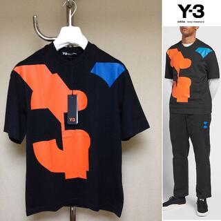 Y-3 - 新品 XS Y-3 adidas ビッグプリント Tシャツ 黒 9827