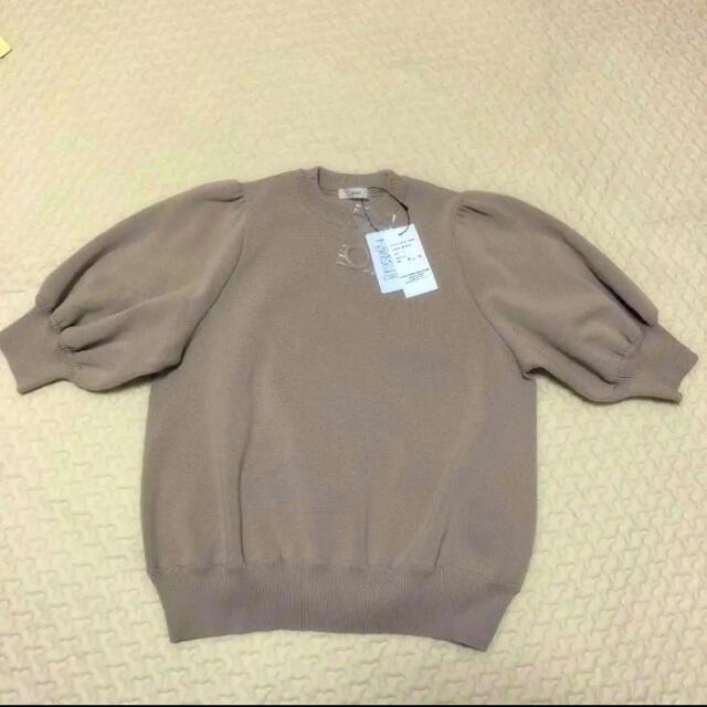 Drawer(ドゥロワー)のyori コットンパフスリーブニット 完売品 レディースのトップス(ニット/セーター)の商品写真