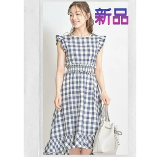 tocco - 新品未使用 トッコクローゼット ワンピース ギンガムチェック 完売 ネイビー 紺