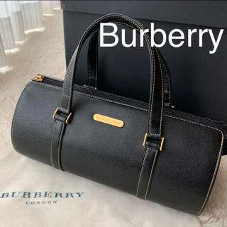 BURBERRY - バーバリーBURBERRY ドラム型パピヨン型バッグ美品 バッグ内ノバチェック