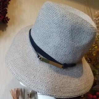グローバルワーク(GLOBAL WORK)のGLOBAL WORK 購入   帽子 アイスグレー  (麦わら帽子/ストローハット)