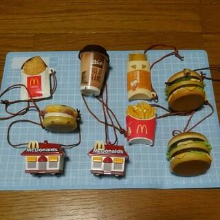 マクドナルド(マクドナルド)のマクドナルドフードストラップ(7種類9個セット)(ノベルティグッズ)