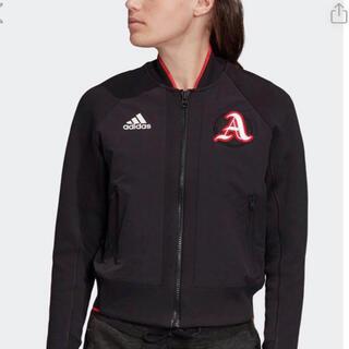 アディダス(adidas)のadidasジャケットレディースLサイズ(ナイロンジャケット)