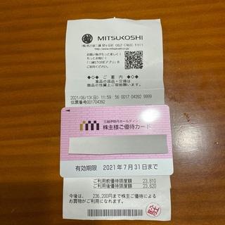 ミツコシ(三越)の三越伊勢丹株主優待カード   限度額残約23万(その他)