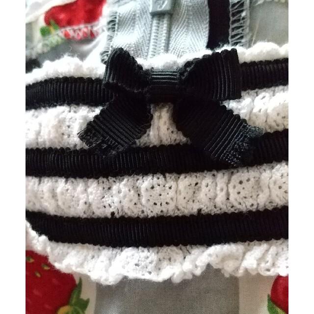 Shirley Temple(シャーリーテンプル)のシャーリーテンプル  ブロックいちご  ワンピース  110サイズ  難あり   キッズ/ベビー/マタニティのキッズ服女の子用(90cm~)(ワンピース)の商品写真
