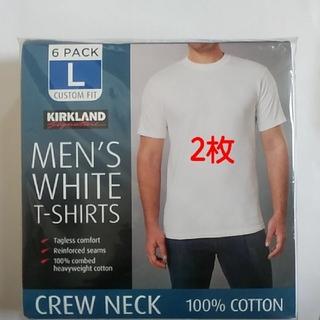 コストコ(コストコ)のコストコ カークランド メンズ ホワイトTシャツ  Lサイズ 2枚(Tシャツ/カットソー(半袖/袖なし))