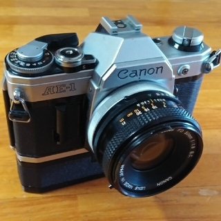 キヤノン(Canon)のCanon AE1 シルバー+レンズ+ワインダー(フィルムカメラ)