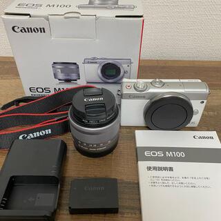 Canon - 【お値下げしました!】canon EOS M100 ミラーレス 一眼 カメラ 白
