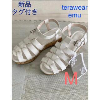 シマムラ(しまむら)の新品タグ付き*terawear emu グルカサンダル 中白 M(サンダル)