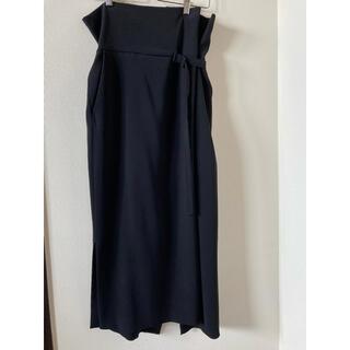 エンフォルド(ENFOLD)のエンフォルドENFOLDラップ風スカート黒(ロングスカート)