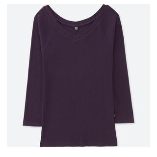 ユニクロ(UNIQLO)のユニクロ 七分丈リブトップス(Tシャツ(長袖/七分))