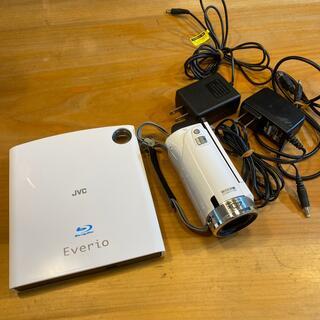 ケンウッド(KENWOOD)のビデオカメラ JVC 40X  ブルーレイライター付き(ビデオカメラ)