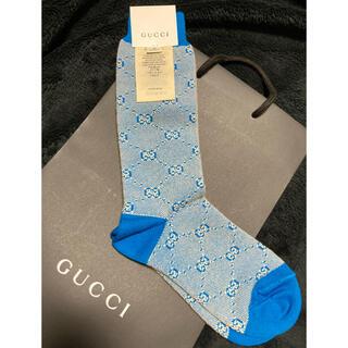 Gucci - GUCCI 靴下 ソックス 20 21 22 23 23.5 ブルー ロゴ
