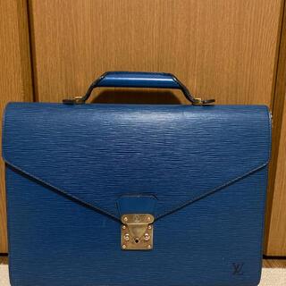 ルイヴィトン(LOUIS VUITTON)のルイ ヴィトン ビジネスバッグ ブルー 38×28cm(ビジネスバッグ)