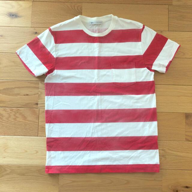 Ron Herman(ロンハーマン)の美品 ロンハーマン 半袖 Tシャツ S ボーダー 赤 メンズのトップス(Tシャツ/カットソー(半袖/袖なし))の商品写真